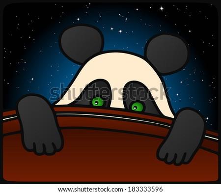 Panda Cub - stock vector