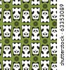 Panda pattern. Vector Illustration. - stock vector
