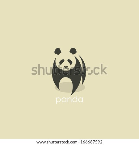 Panda symbol - vector illustration - stock vector