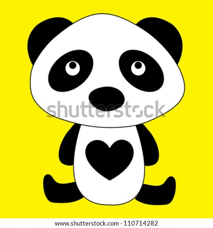 panda / T-shirt graphics / cute cartoon characters / cute graphics for kids / Book illustrations - stock vector