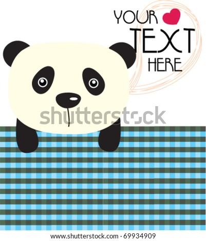 panda with love 5 - stock vector