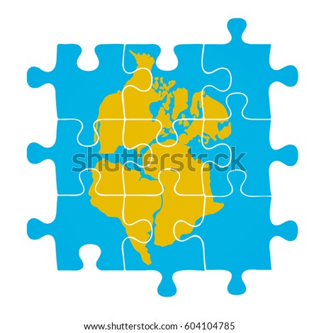 Pangaea puzzle vector illustration stock vector 604104785 pangaea puzzle vector illustration gumiabroncs Choice Image