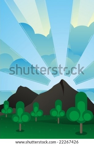 panorama - stock vector