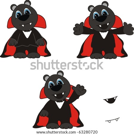 panther cartoon halloween pack in vector format