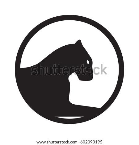 Panther Logo Emblem Mascot Team Symbol Stock Vector 602093195