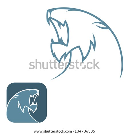 Panther sign - vector illustration