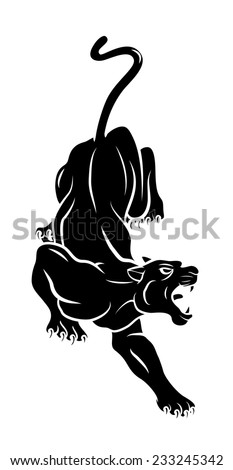 Panther Tattoo - stock vector