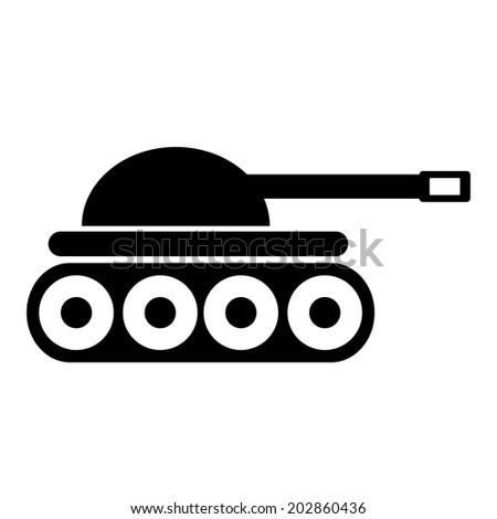Panzer icon on white background. - stock vector