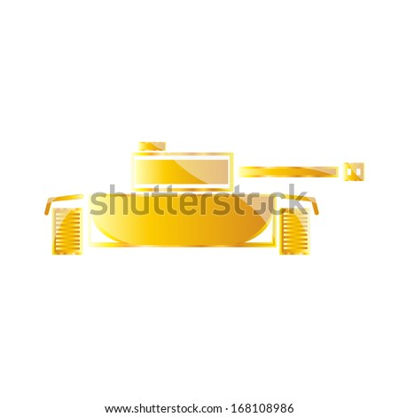 panzer, tank - stock vector