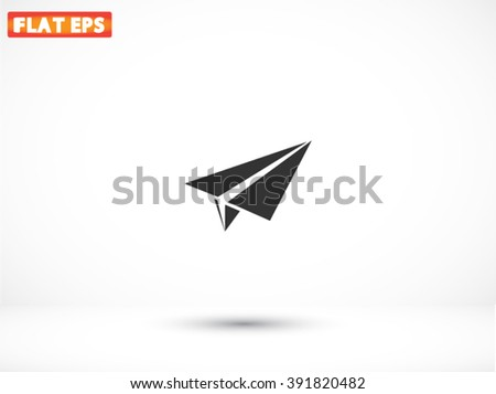 Paper airplane icon - stock vector