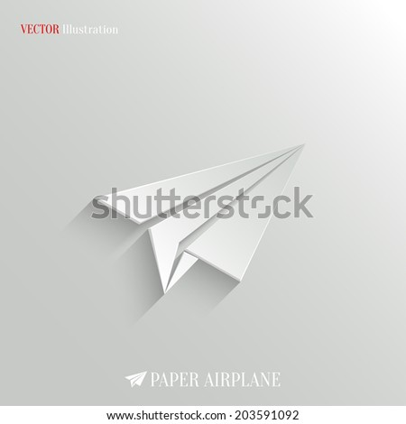 Paper Airplane icon - vector web background - stock vector