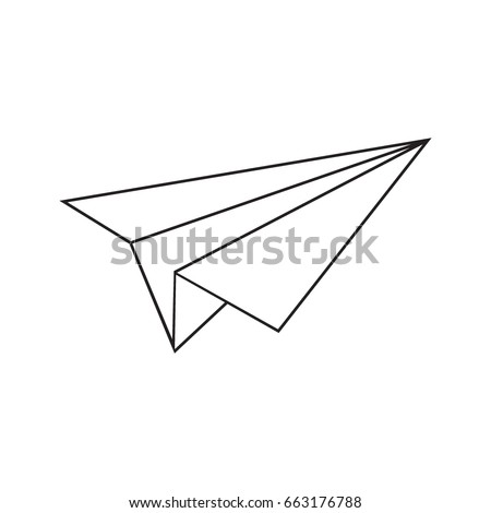 paper airplane vector sketch icon isolated stock vector 2018 rh shutterstock com paper airplane vector graphic free paper plane vector