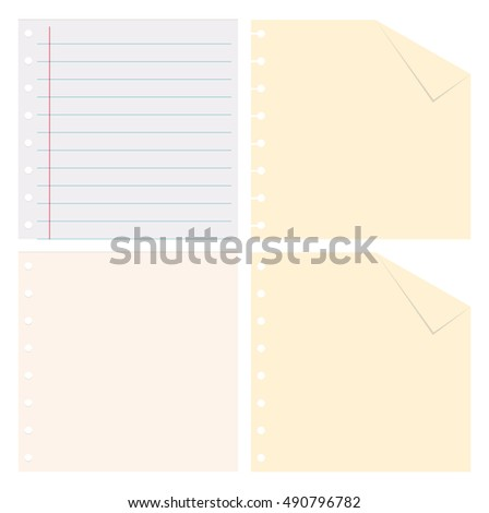 Paper background set on white