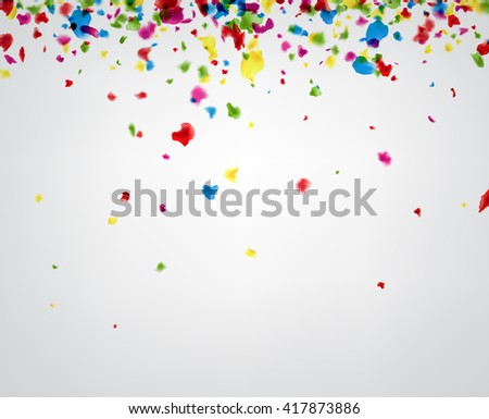 Paper background with color painted drops. Vector illustration.