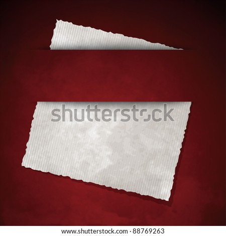 Paper background with editable copy space - stock vector