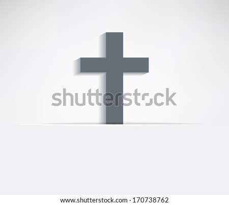 Paper background with flap and cross symbol - stock vector