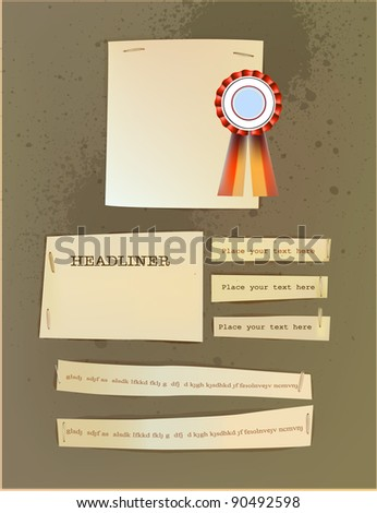 paper backgrounds and label - stock vector