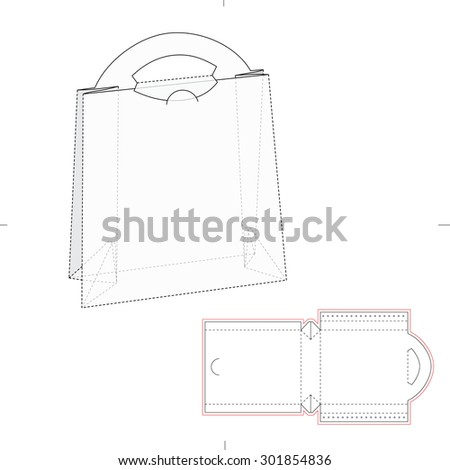 Paper Bag with Blueprint and Layout