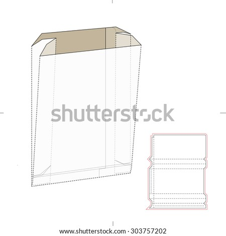 Paper bag die cut template stock vector 303757202 shutterstock paper bag with die cut template malvernweather Choice Image