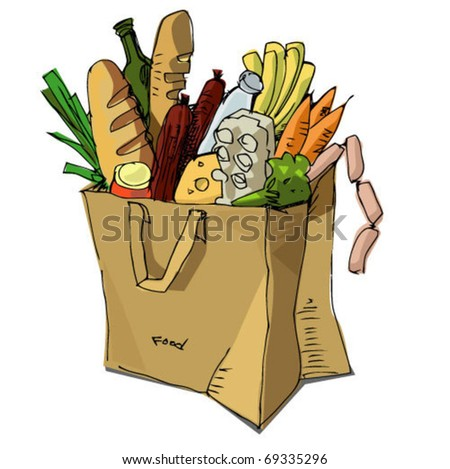 paper bag with food inside