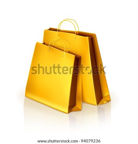 Paper bags, vector - stock vector