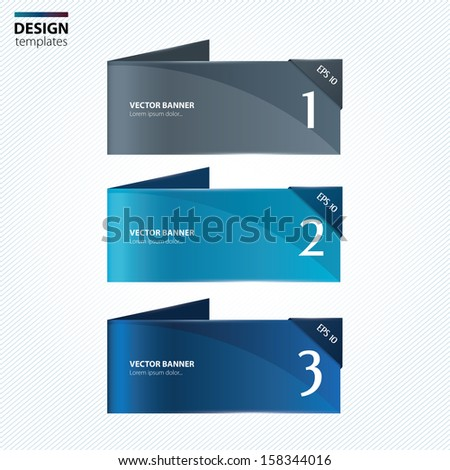 Paper banners. Modern design template. - stock vector