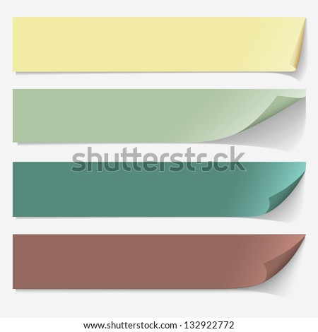 Paper banners. Vector set - stock vector