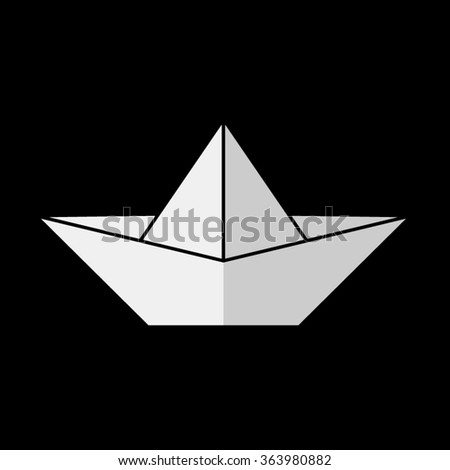 paper boat  - vector icon