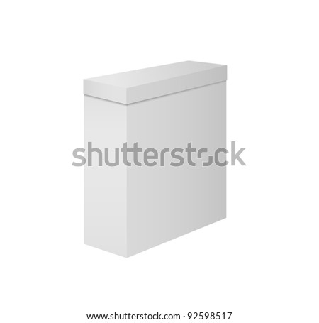 Paper box on white background. Vector illustration.