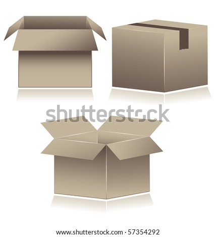 Paper Boxes. vector illustration - stock vector