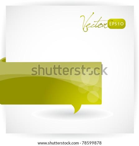 Paper bubble banner, vector EPS10. - stock vector