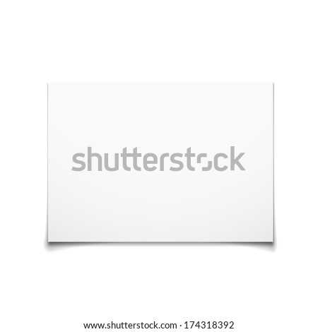 Paper Card Isolated On White Background, Vector Illustration - stock vector