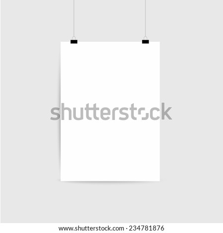 Paper card on a gray background - stock vector