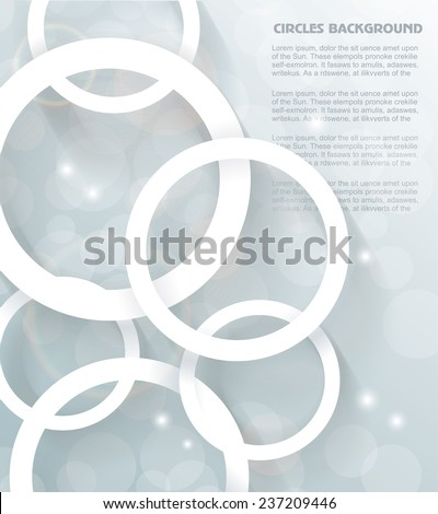 Paper circles background. Abstract 3D Geometrical Design - stock vector
