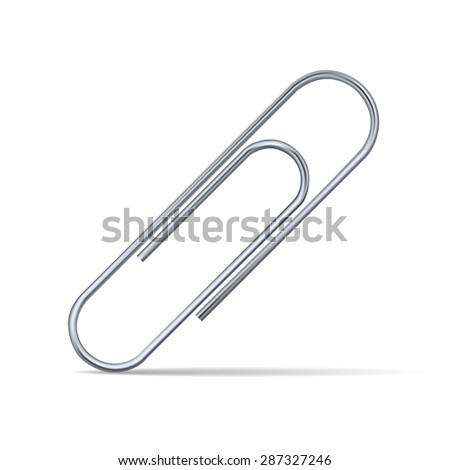 Paper clip. Vector - stock vector