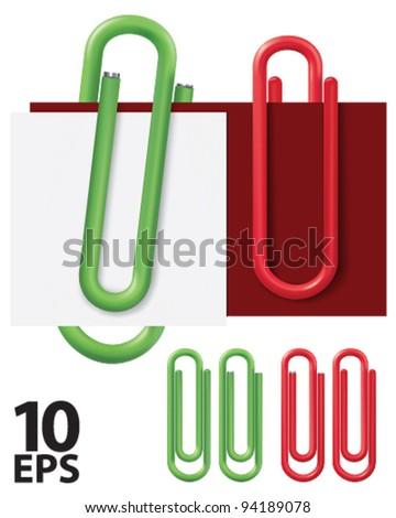 Paper clip. Vector illustration - stock vector