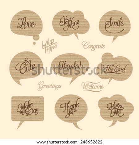Paper Cloud Design Element and Abstract Web Icon and logo Vector Symbol. Unusual icon and sticker set. Graphic design easy editable for Your design.  - stock vector