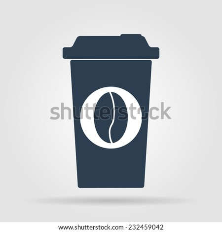 paper coffee cup. Flat vector illustrator Eps  - stock vector