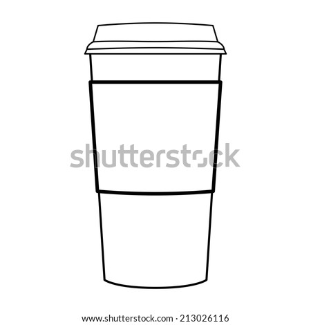 Interesting Paper Coffee Cup Vector Outline With Ideas