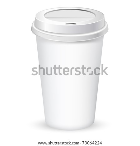 paper coffee cup vector illustration - stock vector