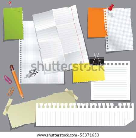 paper collection - stock vector
