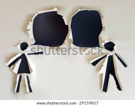 paper collection Talking people - stock vector