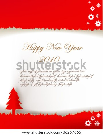 paper collection Vector Christmas & New-Year's greeting card - stock vector