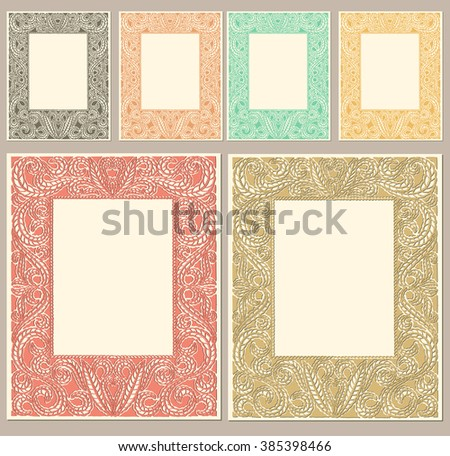 Paper cut frame - stock vector