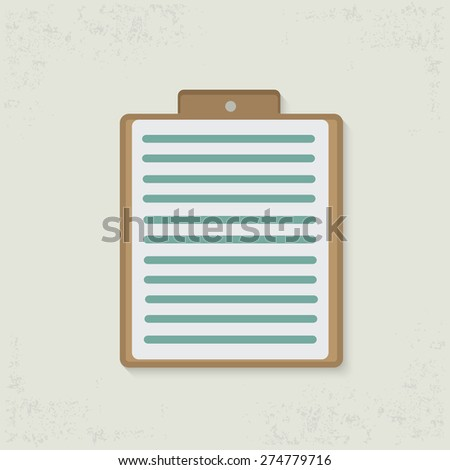 Paper design on old background,clean vector - stock vector