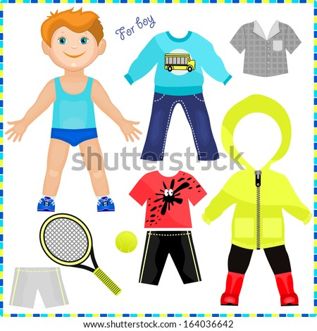 Paper Dolls Printable Paper Doll With a Set of