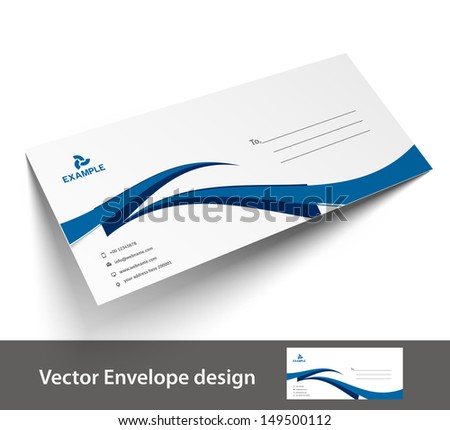 Paper Envelope Templates Your Project Design Stock Vector (2018 ...