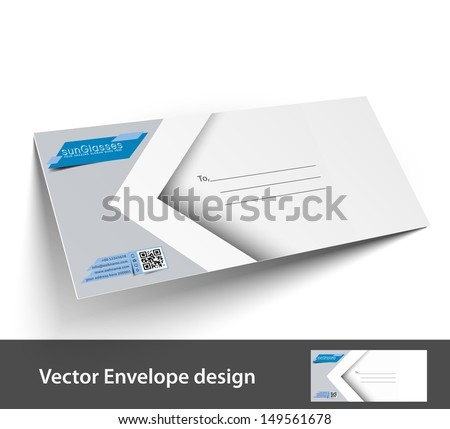Paper Envelope Templates Your Project Design Stock Vector 149561678 ...