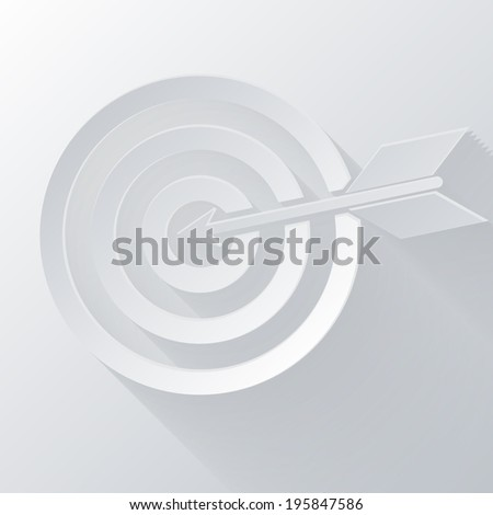 paper flat icon with a shadow. target