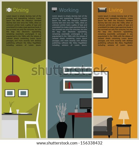 paper folded for interior decoration concept - stock vector